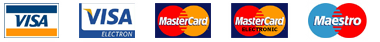 Platba kartami visa, mastercard, maestro