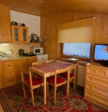 Apartment house *** Oščadnica 688 - apartment A: 1 x triple-bed (1 x  double bed, 1 x  single bed),  + 2 x additional bed (2 x additional bed ), kitchen (fridge, electric kettle, cooker, microwave oven), bathroom (shower cabin, WC in the bathroom, wash-basin), TV+SAT, safe, sušič vlasov, attic