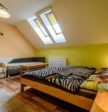 Guest-house / B&B*** Ranč u Bobiho Nový Tekov 2873 - triple-bed + 1 x additional bed:   (3 x  single bed, 1 x fold-out couch), LCD, Own bathroom in room (shower cabin, washbasin, WC in the bathroom)