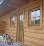 Wooden cabin Terchová 3500 - apartment 1: 1 x double-bed (2 x  single bed), 1 x triple-bed (1 x  double bed, 1 x  single bed), common room (LCD+SAT, seating, fire-place, wi-fi (wireless) connection) combined with the dining room, kitchen (fridge, electric kettle, ceramic hob, microwave oven), bathroom (shower, shower cabin, 2 x separate WC, wash-basin), entrance to the terrace, separate entrance