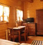 Wooden cabin Oščadnica 3817 - four-bedded room:  TV, wi-fi (wireless) connection, Internet for free, towels, seating, parking place, Own bathroom in room (shower cabin, washbasin, WC in the bathroom), attic