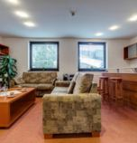 Hotel*** Vyšná Boca 3941 - apartment LUX: 1 x double-bed, common room (telephone, Internet for free, wi-fi (wireless) connection) combined with the kitchen corner, kitchen corner (fridge, electric kettle, microwave oven), bathroom (shower cabin, whirlpool bath, separate WC, wash-basin)